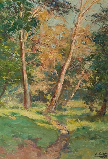 Marius GUEIT (1877 - 1956)  Le chemin forestier...