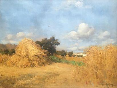 Etienne MARTIN (1858 - 1945)  La Moisson...