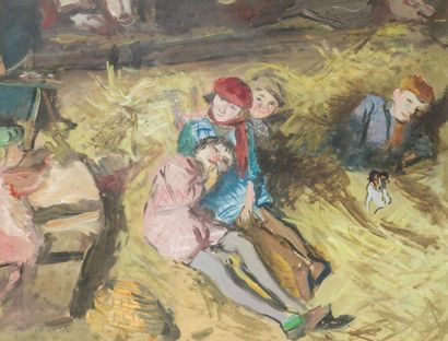 Jean LAUNOIS (1898 - 1942)  Enfants dans...