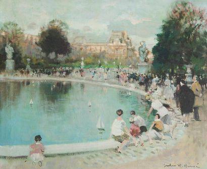HERVE Jules-René (1887 - 1981)  Aux Tuileries,...