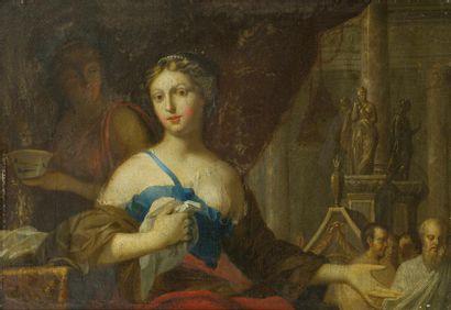 Ecole FRANCAISE du XVIIIème, entourage de...