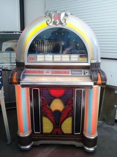 Jukebox HURLITZER, décor polychrome,