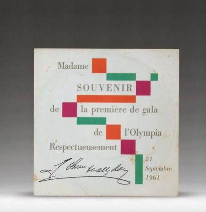 1 SP «21 septembre 1961»  «Madame, souvenir...