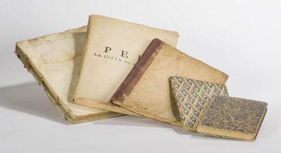 Italie: Réunion d'ouvrages en langue italienne : Il galba overo historia della...