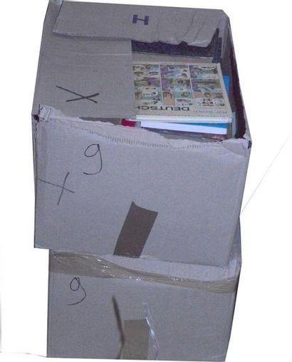 Varia: 2 cartons d'ouvrages reliés et b...