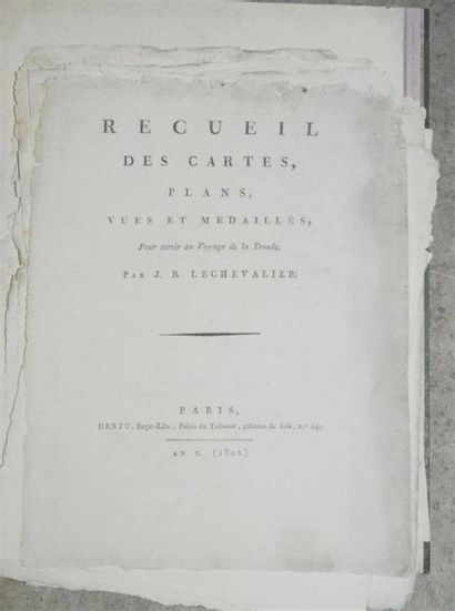LECHEVALIER (J.B.): Recueil des cartes,...