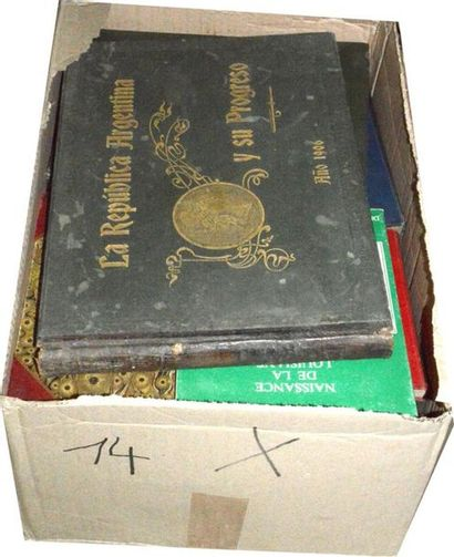 Amérique: 2 cartons 'ouvrages reliés et...