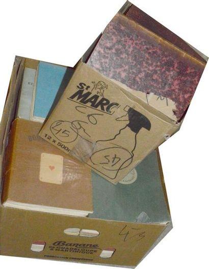 Varia: 2 cartons d'ouvrages divers (Courteline,...