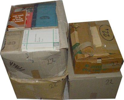 Varia: 4 cartons d'ouvrages reliés et b...