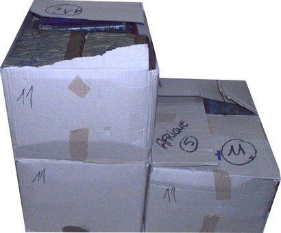Afrique: 3 cartons d'ouvrages XIXe et XXe,...
