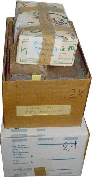 Histoire: 3 cartons de volumes reliés et...