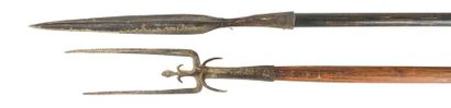 Deux armes d'hast : -Pique -Fourche de guerre...