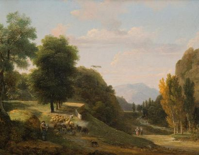 Jean Victor BERTIN (Paris 1767 - 1842) Paysage...