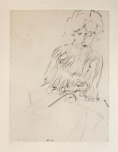 Avigdor ARIKHA (1929 2010) Anne cousant....