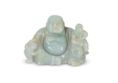 Statuette de Budai en jadéite Chine, XXème...