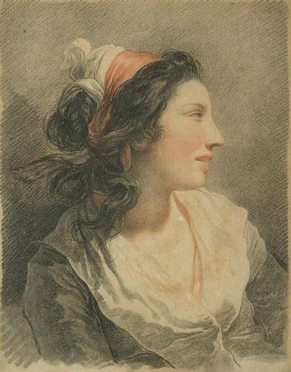 Gilles DEMARTEAU (1722 - 1776) Etude de femme en buste Femme épaule dénudée Deux...