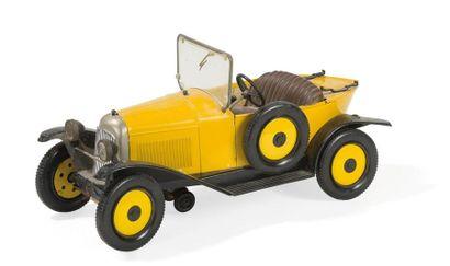 Jouet Citroën 5HP jaune et noir marque France...