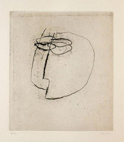 Jean FAUTRIER (1898 - 1964) Otages. Eau-forte...