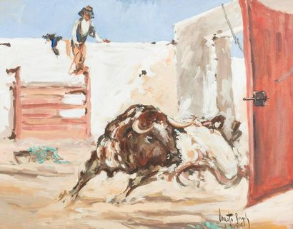 Donato BERGOLY «Apartado de un toro», 1949...