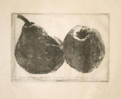 Avigdor ARIKHA (1929 2010) Poire et pomme....