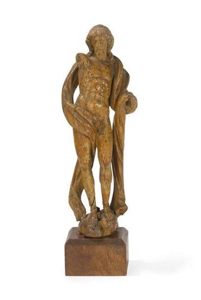 Figure de Christ en bois tendre (anciennement...