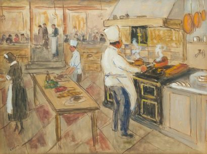 Marcel COSSON (1878-1956) Les cuisines -...