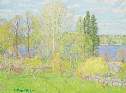 Valériane FORMOSOV (1921-2004) Paysage, 1987...