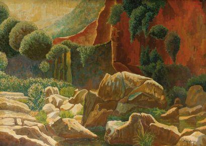 M. de LA ROUERE 1905-1939 La vallée, roches...