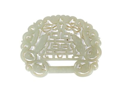 Pendentif en jade céladon Chine, XIXème siècle...