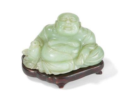 Statuette de Budai en jade céladon Chine,...