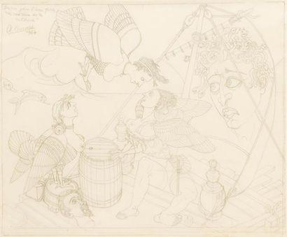 Alfred COURMES (1898 1993) Etude pour l'eau-forte...