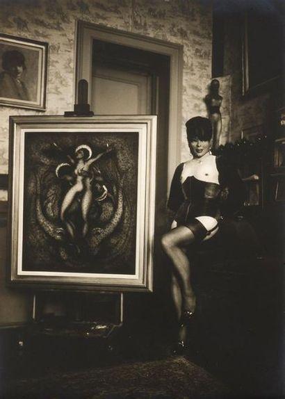 Pierre MOLINIER 1900-1976 Autoportrait debout...