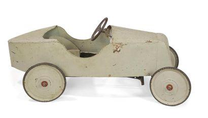 Voiture à pédales Renault en tôle grise Devisix...