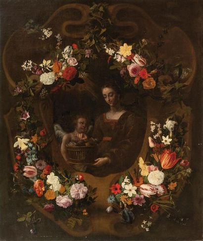 ATTRIBUE A JAN PHILLIP VAN THIELEN (1618-1667)...