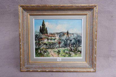 N. LEGUEN (XXe siècle). Paysage de Provence....