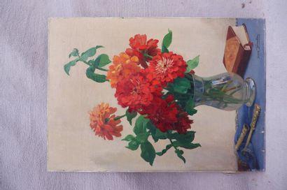 Suzan TONNELIER (XXe siècle). Bouquet de...