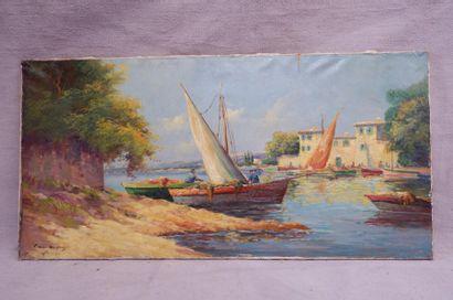 Louis ANDREY (XXe siècle). Port de pêche...