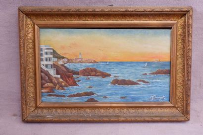 M. PREVOST (XXe siècle). En bord de mer....