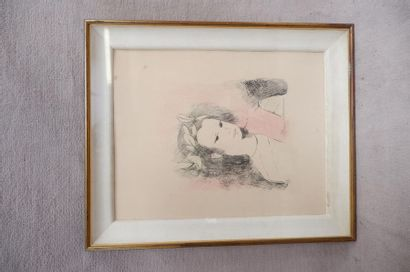 Marie LAURENCIN (1883-1956). Jeune fille....