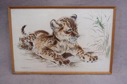 Ecole du XXe siècle. Le tigreau et la mante...