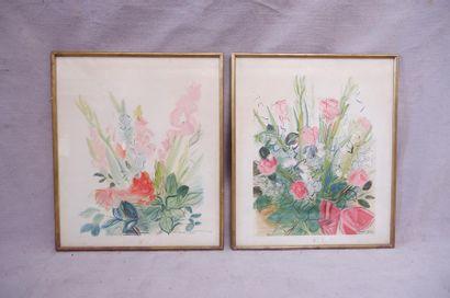 D'après Raoul DUFY (1877-1953). Fleurs. Deux...