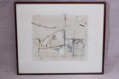 Hanny FRIES (1918-2009). Le tigre. Lithographie...