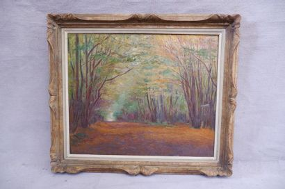 Henri VINCENT-ANGLADE (1876-1956). L'allée...