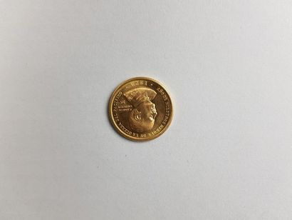 Pièce péruvienne en or de cinquante mille...