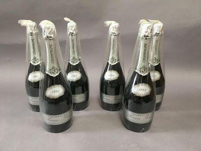 6 bouteilles de champagne Lacuisse frère...