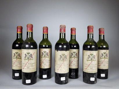 7 bouteilles CHÂTEAU LAFON ROCHET (2 B.E.+;...