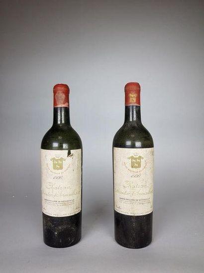 2 bouteilles CHÂTEAU D'ARMAILHAC ( V-; e.t.h....