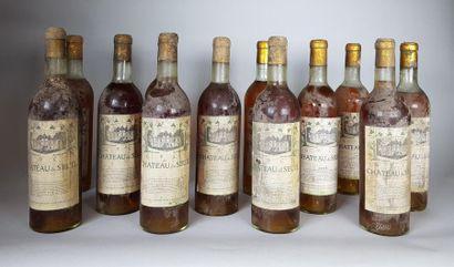 6 bouteilles CHÂTEAU DU SEUIL (1 B.G; 3 T.L.B;...