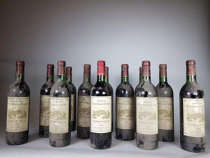 12 bouteilles de Château Tour Grand Faurie...