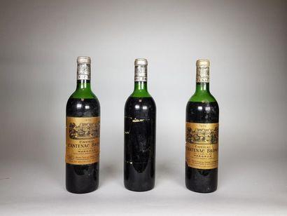 3 bouteilles de Château Cantenac Brown (1...